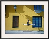 Ballet in the Colonial Streets of Old Havana Framed Photographic Print by Kike Calvo