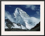 The North Face of K2 from K2 Glacier, 2nd Highest Peak in the World, Karakoram, Xinjiang, China Framed Photographic Print by Colin Monteath/Minden Pictures