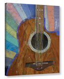 Guitar Sunshine Gallery Wrapped Canvas Stretched Canvas Print
