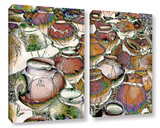 Southwestern Pots 2 Piece Gallery Wrapped Canvas Set Gallery Wrapped Canvas Set