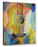 Guitar Melodies Gallery Wrapped Canvas Stretched Canvas Print