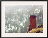 Outhouse Perches on a Hillside Framed Photographic Print by Rex Stucky
