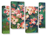 Pink Dogwood 4 Piece Gallery Wrapped Canvas Set Gallery Wrapped Canvas Set