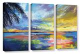 Islamoradana Sunset 3 Piece Gallery Wrapped Canvas Set Gallery Wrapped Canvas Set