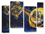 Trumpet 4 Piece Gallery Wrapped Canvas Set Gallery Wrapped Canvas Set
