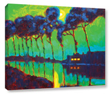 Moonlight On The Canal Gallery Wrapped Canvas Stretched Canvas Print