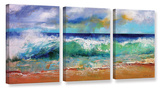 Ocean Waves  3 Piece Gallery Wrapped Canvas Set Gallery Wrapped Canvas Set