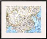 1991 China Map Poster