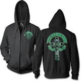 Zip Hoodie: Dropkick Murphy'S- Drinking Skeleton Cross (Front/Back) Zip Hoodie