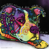 Dean Russo- Dog Love Poster by Dean Russo