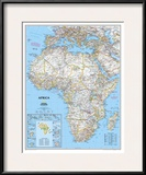 Africa Political Map Prints