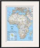 Africa Political Map Art