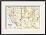 1948 Southwestern United States Map Prints