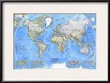 1981 World Map Prints