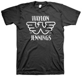 Waylon Jennings- Distressed Logo Shirt