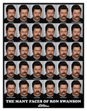 Parks And Recreation- Many Faces Of Ron Swanson Prints
