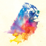 Robert Farkas- Lion With Glasses Posters by Robert Farkas