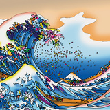 Howie Green- Great Wave Poster by Howie Green
