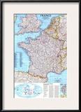 1989 France Map Prints