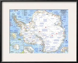 1963 Antarctica Map Posters