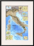 1995 Italy Map Print