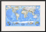 1988 World Map Posters