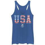 Juniors Tank Top: COPA America- Usa Stars & Stripes T-shirts