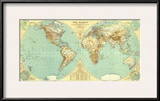 1935 World Map Art