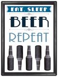 Eat Sleep Beer Plaque en métal