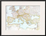 1939 Central Europe and the Mediterranean Map Posters