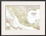 1953 Mexico and Central America Map Prints