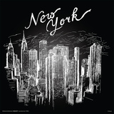 New York In Chalk Prints