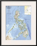 1986 Philippines Map Prints