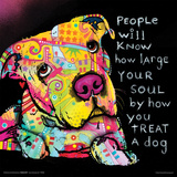 Dean Russo- Dog Soul Print by Dean Russo