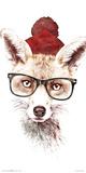 Robert Farkas- Hipster Fox Print by Robert Farkas