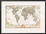 German Executive World Map Print