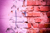 Brick Texture with Scratches and Cracks Photographic Print by  chernikovatv