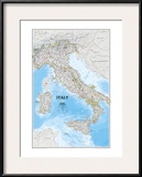 Map of Italy Art