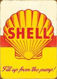 Shell Pump Plaque en métal