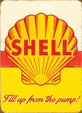 Shell Pump Placa de lata