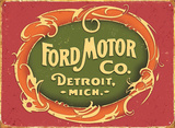Ford Motor Detroit Tin Sign