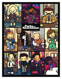 Parks And Recreation- Cartoon Cast Posters