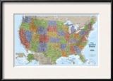United States Explorer Map Prints