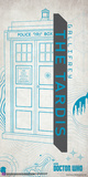 Doctor Who- Tardis Graphic Outline Posters