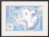 1987 Antarctica Map Posters