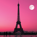 Paris- Eiffel Tower And Moon Posters