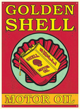 Shell Motor Oil Plaque en métal