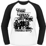 Thin Lizzy- Trouble Boys (Raglan) Koszulki