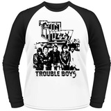 Thin Lizzy- Trouble Boys (Raglan) T-Shirt