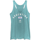 Juniors Tank Top: COPA America- Argentina Flag T-shirts